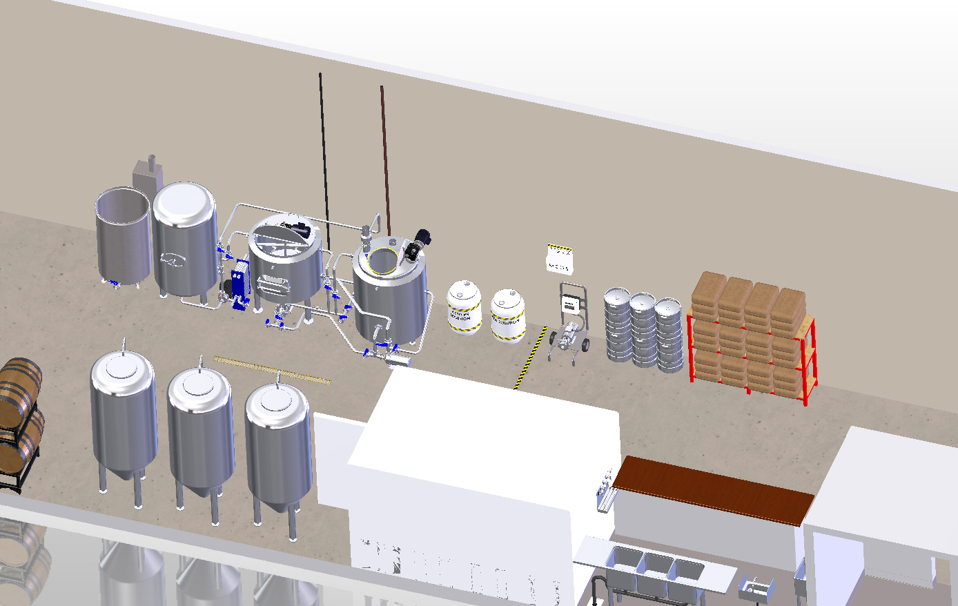 Brewery Layout And Floor Plans U2013 Initial Setup Design