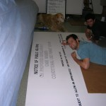 Captain & Chief Working on CUP Sign