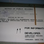 Notice of Public Hearing Sign in Progress