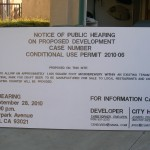 Finished Notice of Public Hearing Sign