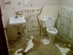 Bathroom torn up