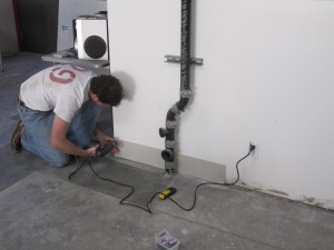 installing baseboard