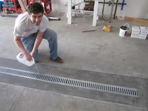 testing brewery floor trench drain