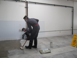 applying concrete sealant