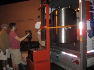chris unloading brewery