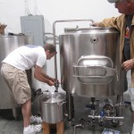 matt and brad working on brewery