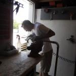 matt buffing a weld