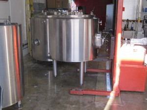 forklift brewing tanks for mounting