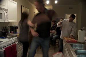Matt and Brie dancing so fast