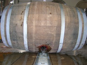 emptying barrel
