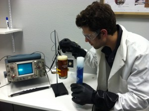 lab testing the beer
