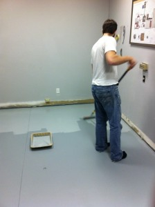 painting the lab floor