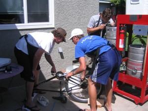 brewery run by bike pumping