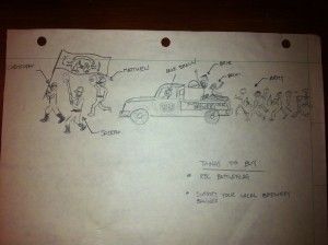 enegren brewing parade sketch
