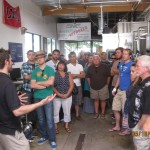 chris-reviewing-old-brewery-with-tour-group