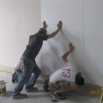 joe chris matt putting up frp panel