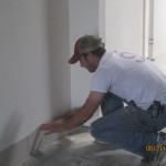 matt installing tile backing