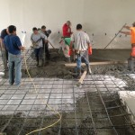 pouring brewery concrete