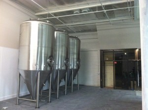 three-30-bbl-fermentors-in-brewery